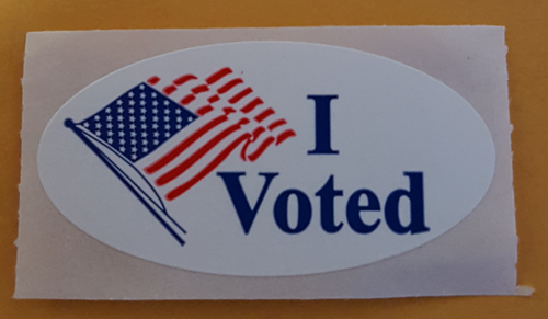 "An ""I voted"" sticker given to Boston voters in 2016 I voted sticker Boston 2016.PNG"