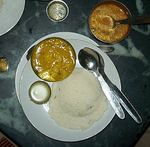 Mavalli Tiffin Room - Idli served with pure ghee and sambar