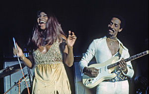 Ike Turner - Ike Turner and Tina Turner performing in Hamburg, Germany, November 1972.