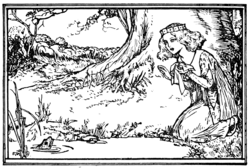Illustration at page 288 in Grimm's Household Tales (Edwardes, Bell)