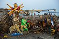Immersed Durga Idol Remains - Baja Kadamtala Ghat - Kolkata 2015-10-22 6604.JPG