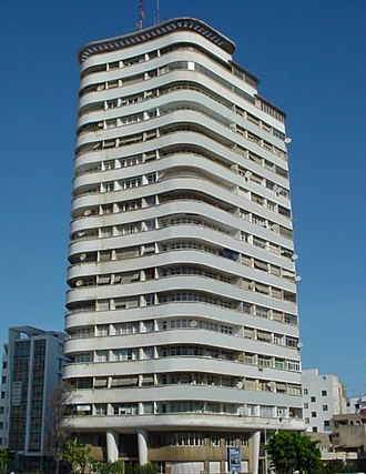 Casablanca - Immeuble Liberté, the first skyscraper in Africa, built in 1949