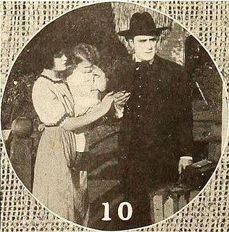 Harry von Meter - Still from In the Sunlight (1915) with Vivian Rich, an unidentified child, and von Meter
