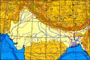 Extent of the Indo-Gangetic plain across South Asia.