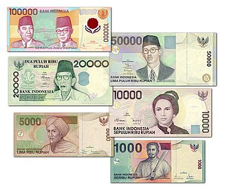 Banknotes of the rupiah - Variants of Indonesian rupiah's banknotes, issued in 1999 - 2001 and have been withdrawn in 2008 (except for the Rp1,000 and Rp5,000 notes which are still in circulation as of 2017 along with the new series.)