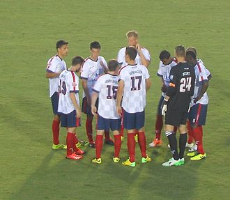 Indy Eleven - Indy Eleven players during a 2014 fall season league game