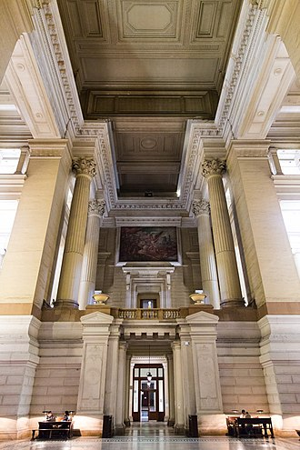 Palais de Justice, Brussels - The main entry hall