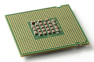 LGA 775 - The LGA 775 contact points on the underside of a Pentium 4 Prescott CPU