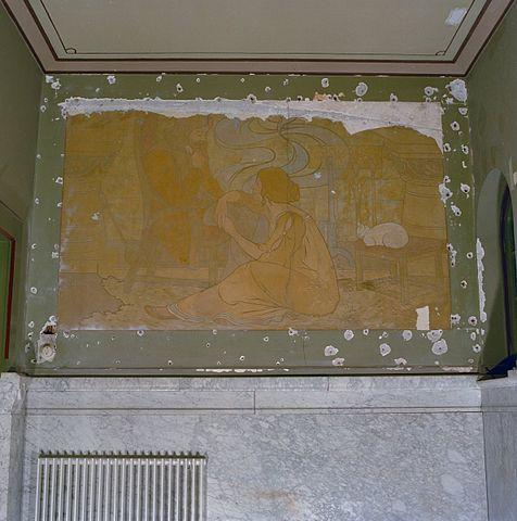 File interieur schildering in hal in art nouveau stijl for Art nouveau interieur