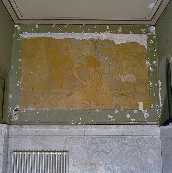 File interieur schildering in hal in art nouveau stijl for Interieur art nouveau
