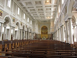 Cathedral of Christ the King, Mullingar - Image: Interior of Cathedral of Christ the King (nave), Mullingar