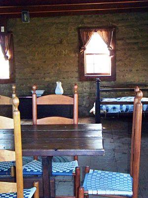 William B. Ide Adobe State Historic Park - Interior of William B. Ide Adobe