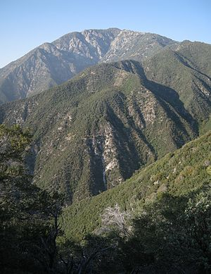 Iron Mountain (Los Angeles County) - Iron Mountain seen from above the East Fork, San Gabriel River
