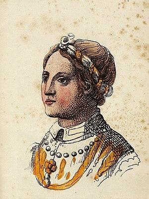 Isabella, Countess of Vertus - 19th-century portrait