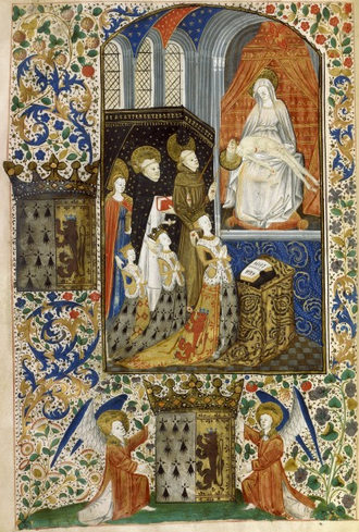 Marie of Brittany, Viscountess of Rohan - Marie with her mother and sister.