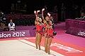 Israel Rhythmic gymnastics at the 2012 Summer Olympics (7915328656).jpg