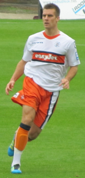 János Kovács - Kovács playing for Luton Town in 2011