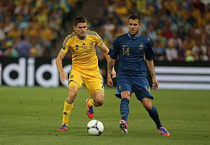 Jérémy Ménez - Ménez (right) playing for France against Ukraine at UEFA Euro 2012.