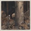 JOHN BAUER, 'I villande skogen' (Lyssnande och spejande genomströvade han skogen...).png