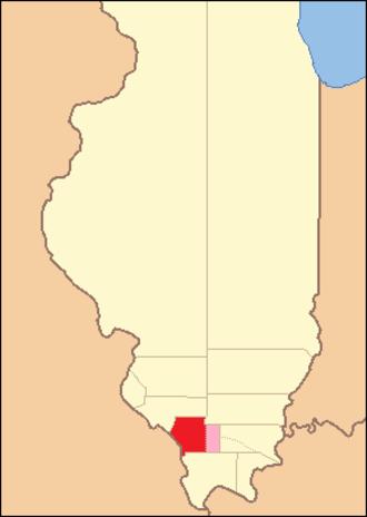 Jackson County, Illinois - Image: Jackson County Illinois 1816