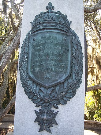 Jacksonville, Florida - Replica of Jean Ribault's column claiming Florida for France in 1562.