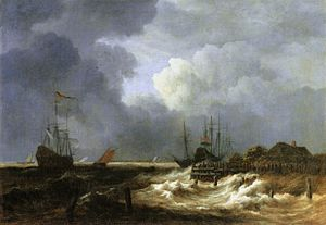 Storm Off a Sea Coast - Image: Jacob Isaacksz. van Ruisdael The Breakwater WGA20503