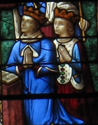 Janus of Cyprus - King Janus and Queen Charlotte in Chartres cathedral
