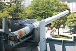 Japanese Battleship Mikasa at Yokosuka - 2013 07 - secundary battery - 2.JPG
