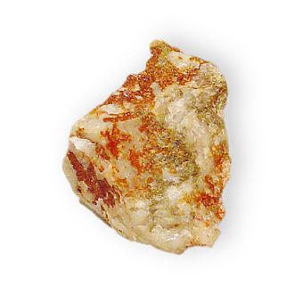 Jarosite - Jarosite on quartz from the Arabia District, Pershing County, Nevada