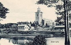 Järvsö Church around 1910.