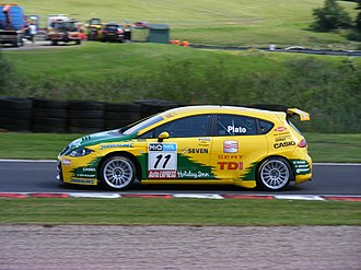 SEAT Sport - Jason Plato driving for SEAT Sport UK at Oulton Park in the 2008 BTCC season.