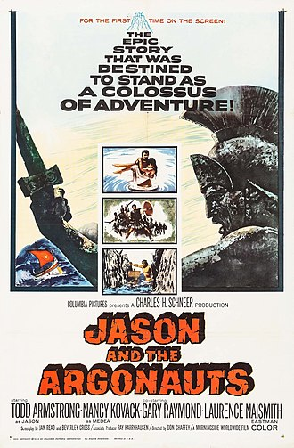 Jason and the Argonauts (1963 film) - Theatrical release poster  by Howard Terpning