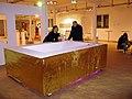 Jean-Robert Valentin und Harro Schmidt auf eine Video-Installation des BBK Hannover, Art (F)Air 2012, Messe für zeitgenössische Kunst, Hannover.jpg