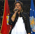 Jennifer Hudson sings national anthem at Super Bowl 43 (cropped1).jpg