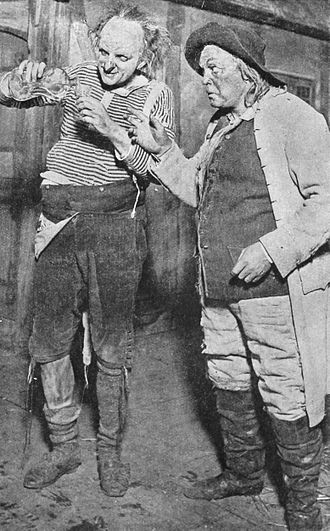 Henrik Malberg - Henrik Malberg (right) as Jeppe in Ludvig Holberg's Jeppe på bjerget at the Royal Theatre in Copenhagen, 1918. To the left is Valdemar Møller as Jacob Shoemaker.