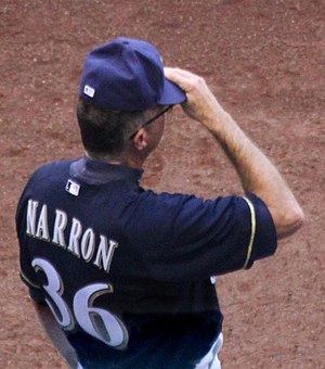 Jerry Narron - Image: Jerry Narron 2014 Milwaukee Brewers Bench Coach