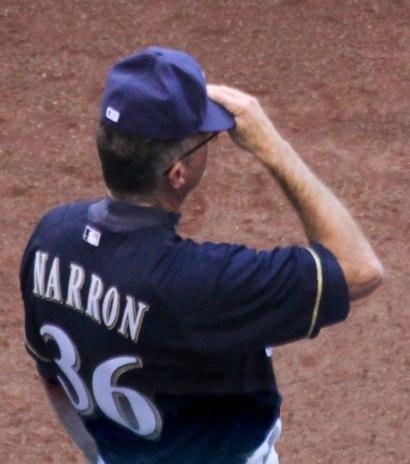 Jerry Narron 2014 Milwaukee Brewers Bench Coach