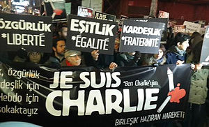United June Movement - The United June Movement protesting the Charlie Hebdo shootings in Istanbul, 2015.