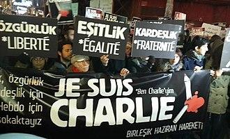 United June Movement - The United June Movement protesting the Charlie Hebdo shootings in Istanbul, 2015.