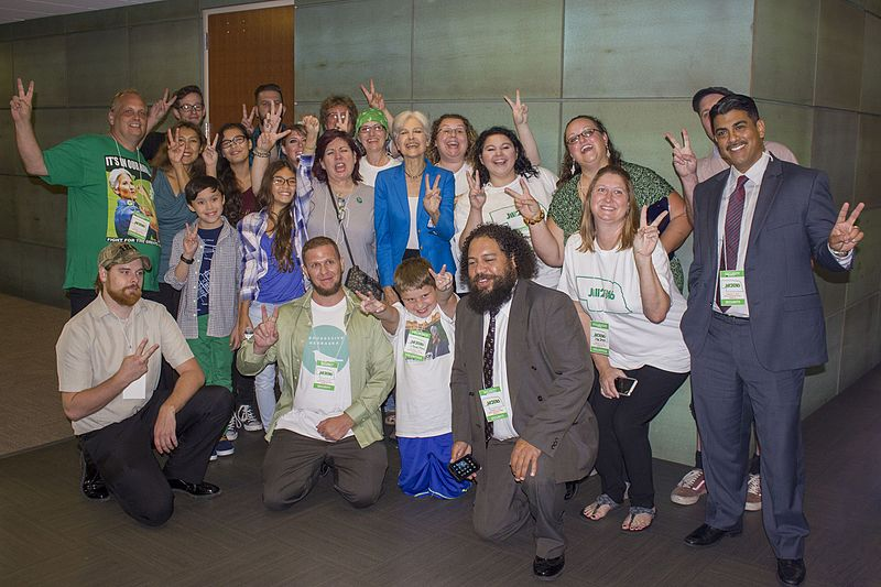 File:Jill Stein with volunteers (28911377403).jpg