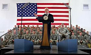 Camp Bondsteel - Former U.S. Vice President Joe Biden visiting Camp Bondsteel, May 2009