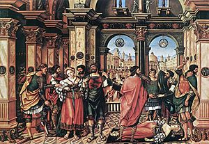 The Rape of Lucrece - The suicide of Lucretia, by Jörg Breu the Elder