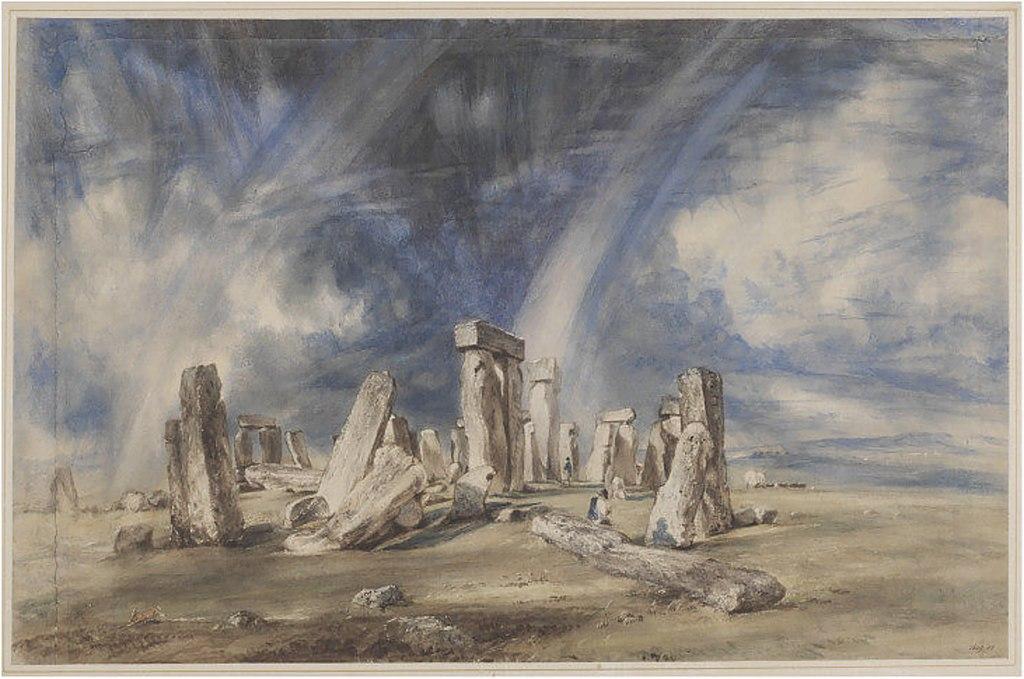 Peinture de Constable représentant Stonehenge (1835) dans le musée d'art déco.