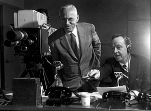 International Amphitheatre - John Daly and Quincy Howe providing CBS' coverage of the 1952 political conventions