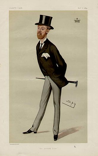 John Stewart-Murray, 7th Duke of Atholl - Caricature by Spy published in Vanity Fair in 1879.