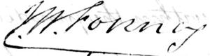 John Weiss Forney - Image: John W. Forney signature