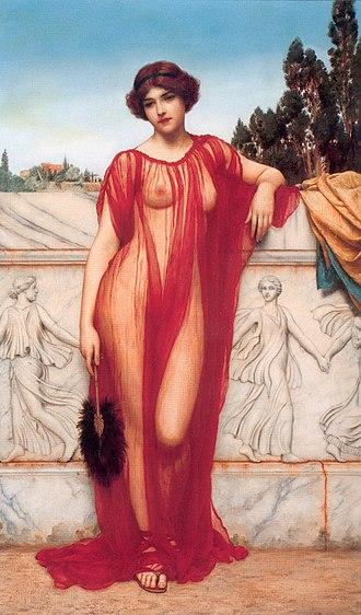 Athenais (seer) - Athenais by John William Godward, 1908.