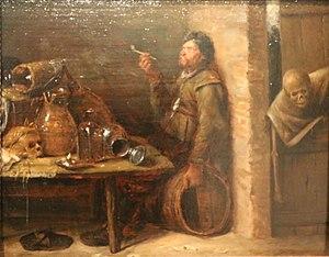 Joos van Craesbeeck - Le fumeur et la mort - Calvet.jpg