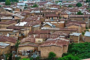 Jos - A residential area in Jos.