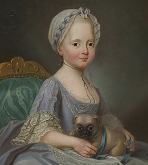 Élisabeth of France (1764–1794) - Élisabeth as a child by Joseph Ducreux, 1768